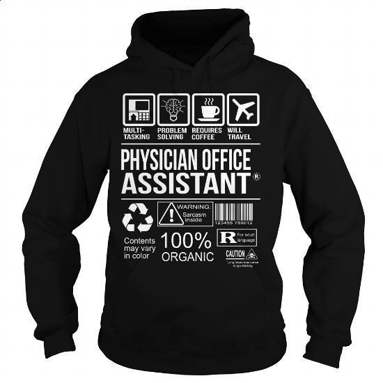 Awesome Tee For Physician Office Assistant - #geek t shirts #t shirt websites. ORDER NOW => https://www.sunfrog.com/LifeStyle/Awesome-Tee-For-Physician-Office-Assistant-Black-Hoodie.html?60505