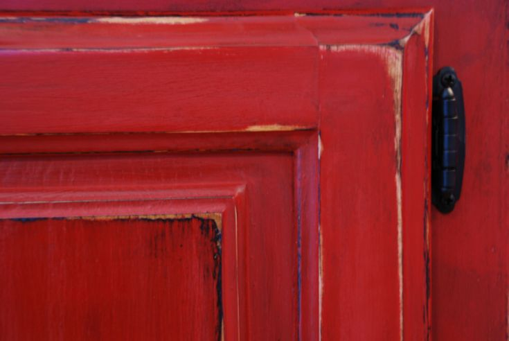 red distressed furniture - Google Search