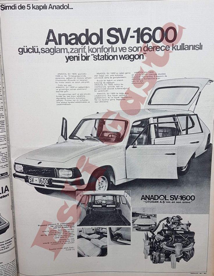 Şimdi de 5 kapılı Anadol... İstanbul teslimi peşin fiyatı: 74.950 TL 1973
