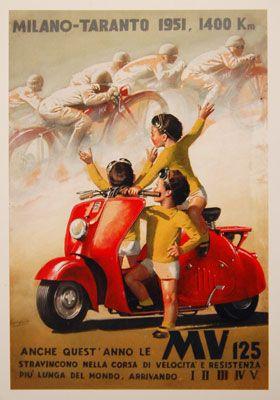 Vintage Italian Posters ~ #illustrator #Italian #posters ~ Agusta Westland economia varesina   1951