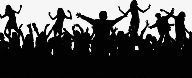Crazy Dance Cheering Crowd Silhouette Madness Cheer Dance Png Image And Clipart Silhouette Silhouette Png Dancing Clipart