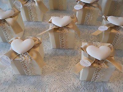 Bomboniera Shabby Chic scatola con gessetto profumato cod. 325E