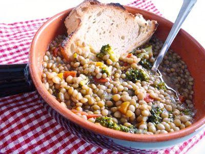 la pancia del lupo: Zuppa di lenticchie e broccolo