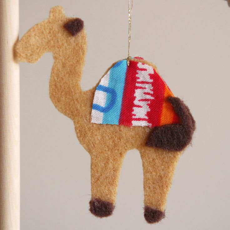 Jesse Tree Ornament Abraham and Sarah Camel