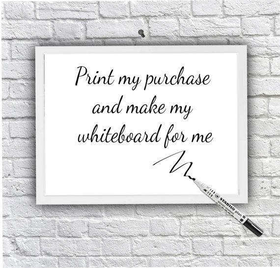 Whiteboard wipe board, bespoke Dry Erase board