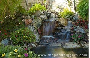 pond kits with waterfalls | The Waterfall Was Built With A Professional Pond Kit