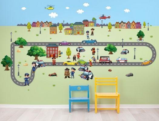 Luxury Wandsticker Polizei Feuerwehr Und Autos I Love Wandtattoode in der Xxl Wandtattoo Kinderzimmer