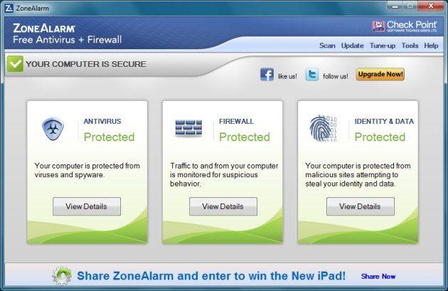 Antivirus gratuit pentru PC: ZoneAlarm Free Antivirus + Firewall