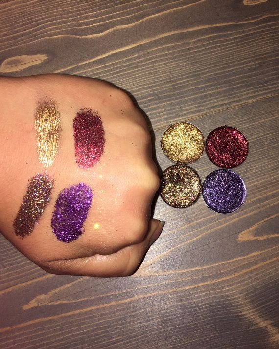 15 pressed glitters, eyeshadow palette , eyeshadow pan , magnetic eyeshadows palette, rainbow eyeshadow, glitter eyeshadow,