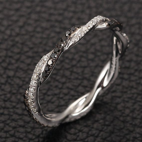 Full Eternity Band French Micro Pave Two Tone Diamond by TheLOGR