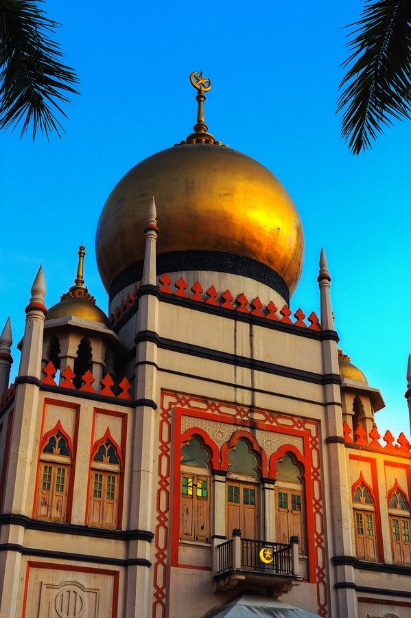 Sultan Mosque, Singapore.  Go to www.YourTravelVideos.com or just click on photo for home videos and much more on sites like this.