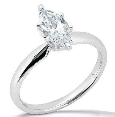 marquise engagement ring... i really like this shape and just the solitare maybe a band with some added bling.