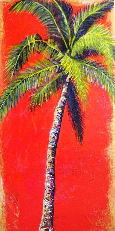 Palm Tree Art Print by Kristen Abrahamson for your coastal decor. Prints available. Coastal Artwork, Coastal Paintings, Palm Tree Paintings, Coastal Living Decor, Beach Decor, Coastal Decor, Tropical Decor, Luxury Beach Cottage Decor, Beach House Decor, Beach Home Decor, Coastal Decorating Ideas, Coastal Inspired Living Rooms, Coastal Bedroom Decorating Ideas, Coastal Decorating Ideas, Tropical Bathroom Decor, Palm Tree Painting, Palm Tree Art, Palm Tree Print with red background.