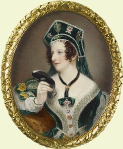 Hon. Anna Maria Stanhope - 3 September 1783, d. 3 July 1857 -  held the office of Lady of the Bedchamber between 1837 and 1841.: