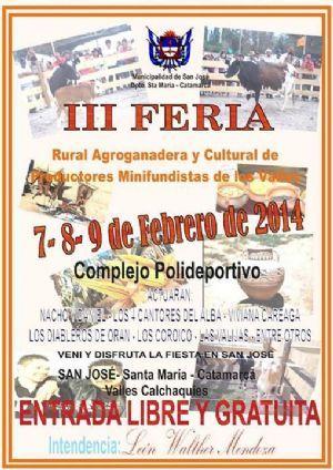 Se viene la 3º edición de la Feria Rural Agroganadera y Cultural http://www.elesquiu.com/notas/2014/1/31/cultura-313105.asp