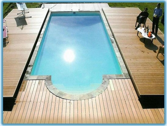 1000 images about awesome inground pool designs on - Covering a swimming pool with decking ...