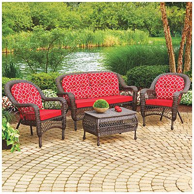 Wilson Amp Fisher 174 Nantucket 4 Piece Seating Set With