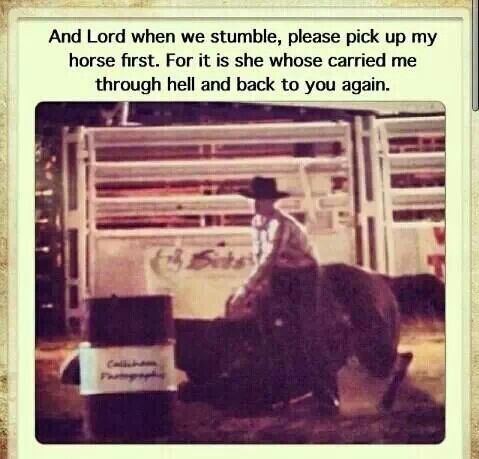 Yes, this is also one of my barrel racing prayers