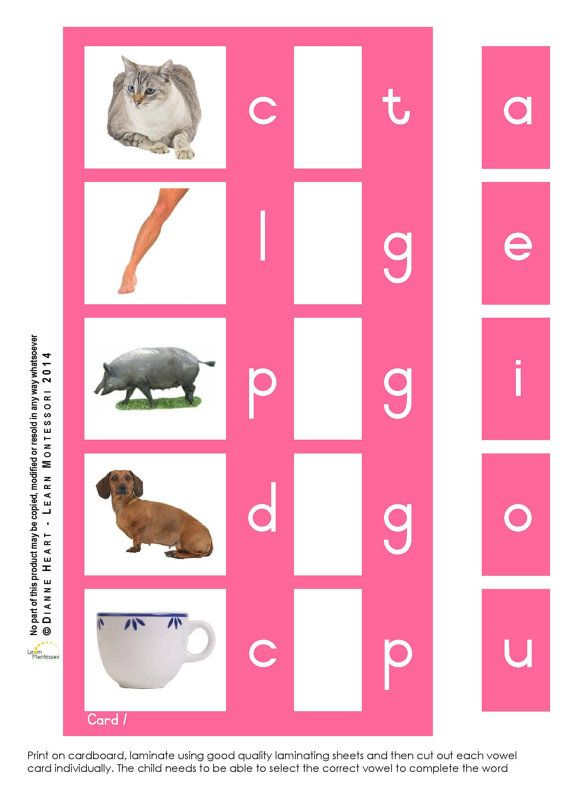 Montessori Curriculum  Language: Pink Word by LearnMontessori
