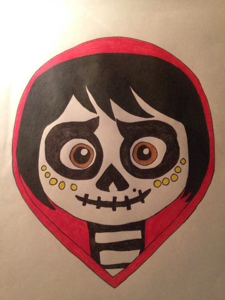 Miguel Rivera In His Skeleton Makeup Disguise From Coco