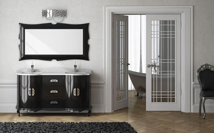 Muebles De Baño Estilo Neoclasico:Bathroom Vanity with Mirror Door