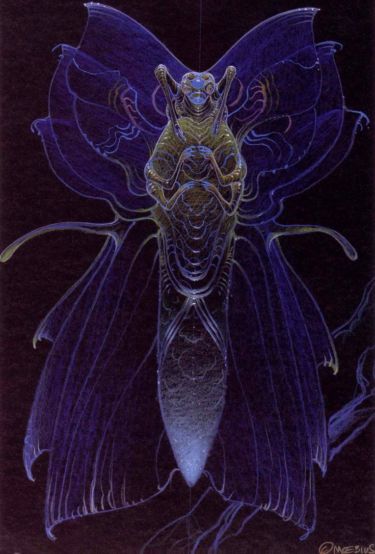 The Abyss - Alien Designs by Moebius | Jean Giraud