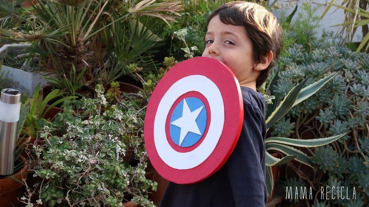 Mamà recicla: Escut del Capità Amèrica / Escudo del Capitán América / Escudo do Capitão América