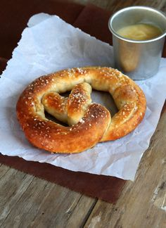 """Soft pretzels just like Auntie Anne's at the mall, but safely gluten free. Even with the sweet mustard dipping sauce. Tastes and smells just like the """"real"""" thing!"""
