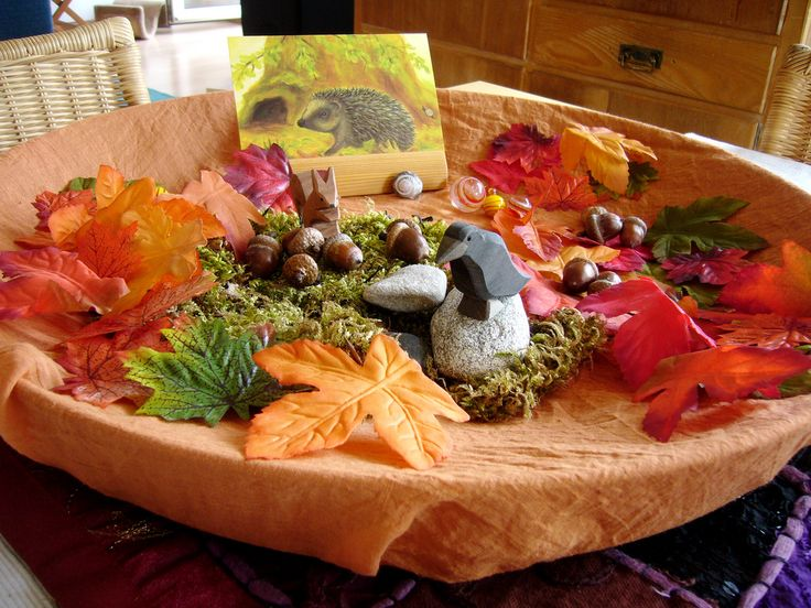 good idea...use bowl and drape cloth over for nature table