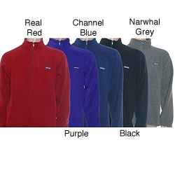 @Overstock - Stay cozy and warm on chilly days with this casual mens Patagonia fleece jacket. Available in a variety of colors to suit your taste, the 3/4 zip fleece jacket is made of soft polyester. It has a large pouch on the front to keep your hands warm.http://www.overstock.com/Sports-Toys/Patagonia-Mens-Synchilla-Marsupial-Jacket/5497709/product.html?CID=214117 $54.94