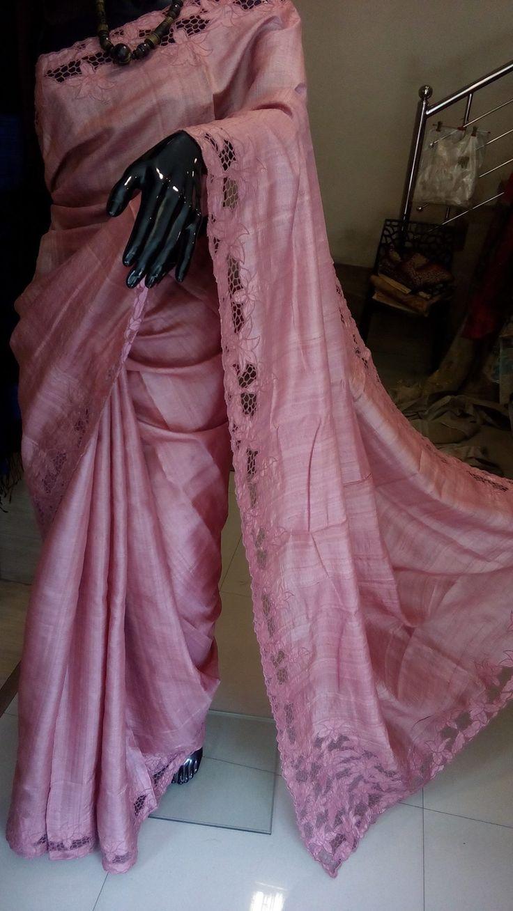 Cutwork sarees