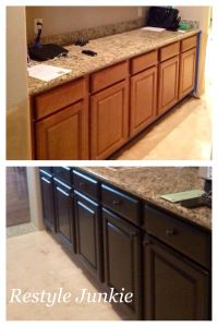 Before and After Java Gel stain