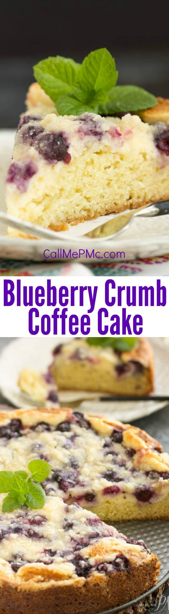 Dessert cake. Streusel Topped Blueberry Cream Cheese Coffee Cake is a magical way to start the day! Crumb cake for breakfast pretty much guarantees a good day!