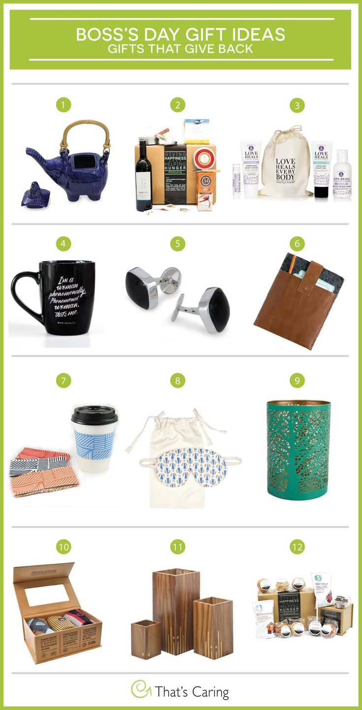 Bosss day gift ideas the give back bosses day gifts
