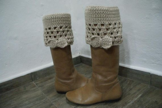 Puño para botas - Crochet - Tejidos de Punto - 612193