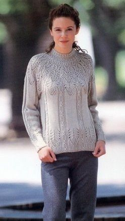 Пуловер с шикарным узором