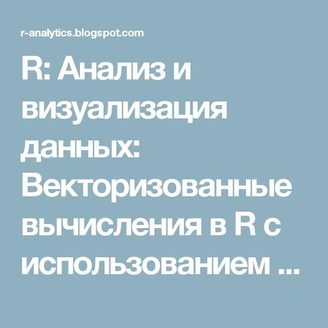 R: Анализ и визуализация данных: Векторизованные вычисления в R с использованием apply-функций