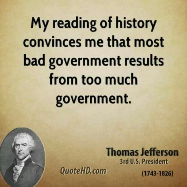 Fake. This is not a Jefferson quote. Earliest known appearance in print: 1913; earliest known appearance in print, attributed to Jefferson: 1950. http://www.monticello.org/site/jefferson/bad-government-results-too-much-government-quotation