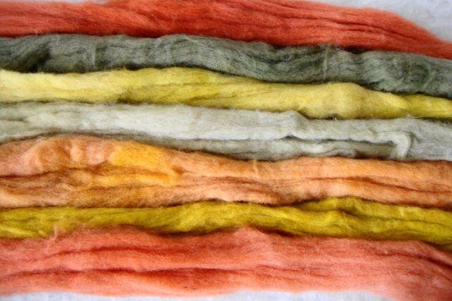 Schafwolle-pflanzengefärbt-verschiedene Töne