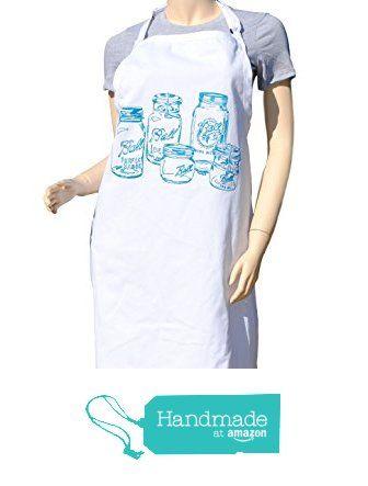$29 FREE SHIPPING - Kitchen Apron - Teal Mason Jar Apron - Crafting Apron - Baking Apron - BBQ Apron from Heaps Handworks #handmadeatamazon  #apron #aprons #kitchenaprons #kitchenapron #bbqapron #bbqaprons #cooksapron #cooksaprons #cooks #chef #baking
