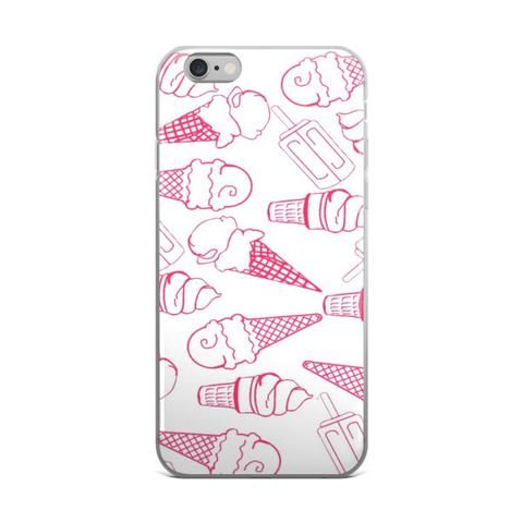 Ice Cream Cone Collage Teen Cute Girly Girls Pink & White iPhone 4 4s 5 5s 5C 6 6s 6 Plus 6s Plus 7 & 7 Plus Case - JAKKOUTTHEBXX - Ice Cream Cone Collage Teen Cute Girly Girls Pink & White iPhone 4 4s 5 5s 5C 6 6s 6 Plus 6s Plus 7 & 7 Plus Case iPhone 6 6s 6 Plus Phone Case/Skin - JAKKOU††HEBXX - JAKKOUTTHEBXX
