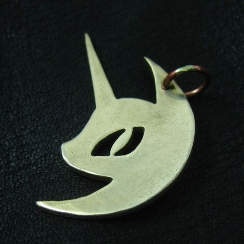 Bronze Nightmare Moon pen. MLP. My Little Pony. Friendship is Magic. FiM. Brony. #Pendant