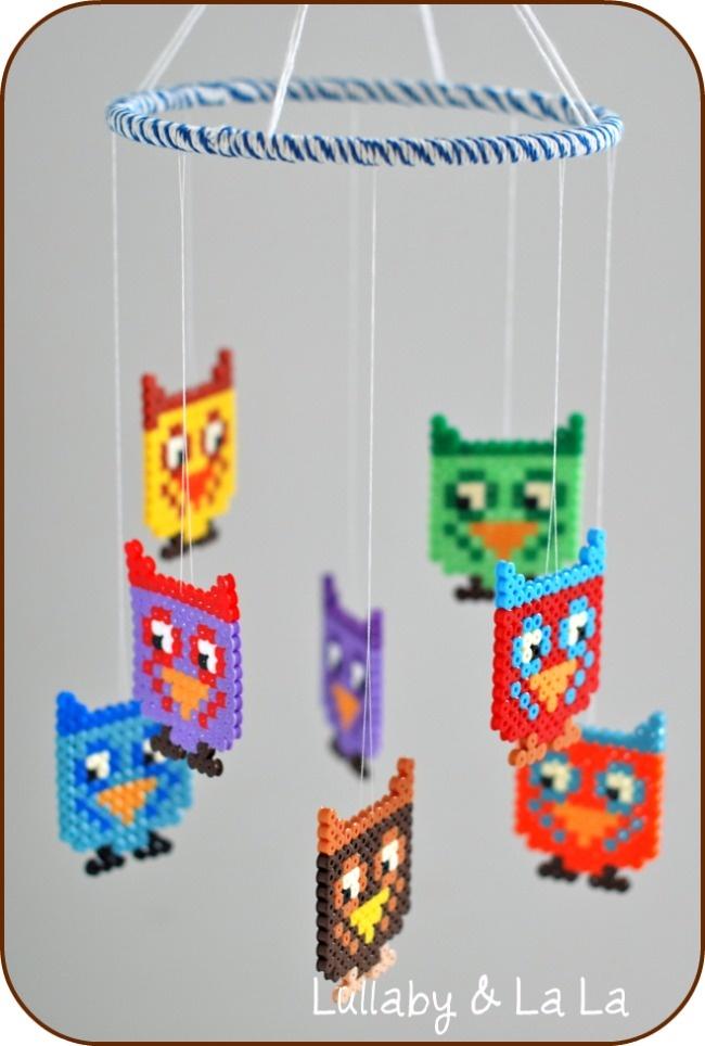 Cute idea for my Hama beads - a mobile