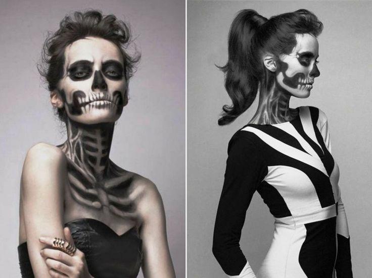 maquillage original squelette pour femme