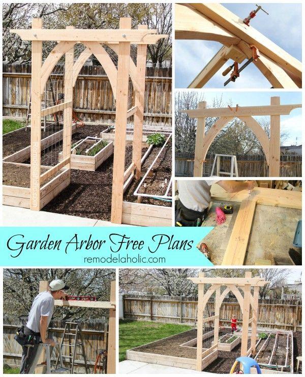 Vegetable Garden Arbor DIY Plans remodelaholic.com