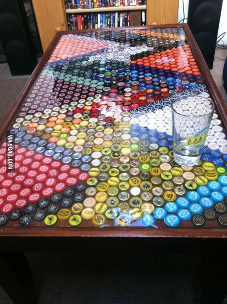 My roommates and I drank a lot of beer and made a table - 9GAG
