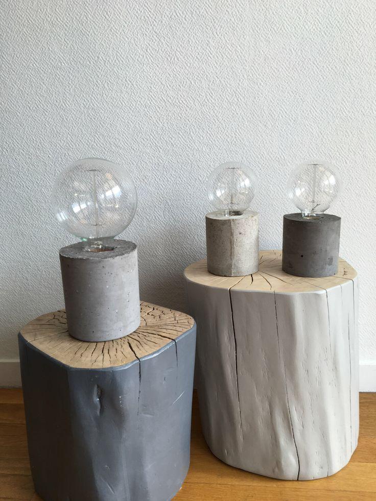 Fancy lampe en b ton par Hemachin sur Etsy https etsy