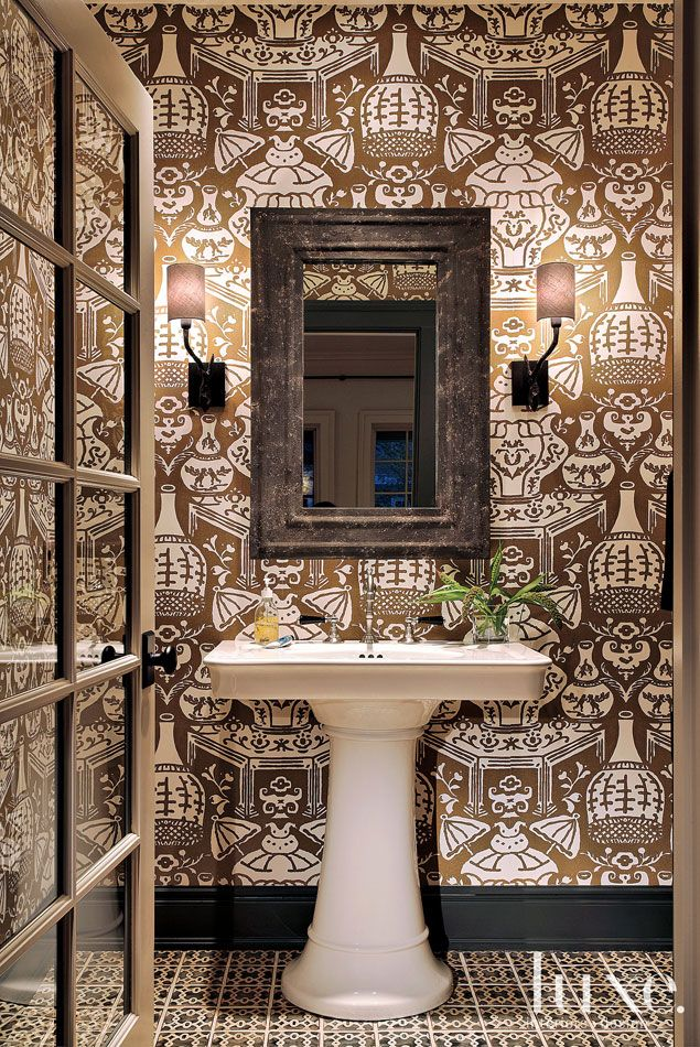 Picture Collection Website  CasaGiardino Vase wallpaper from Clarence House inspired by a David Hicks design