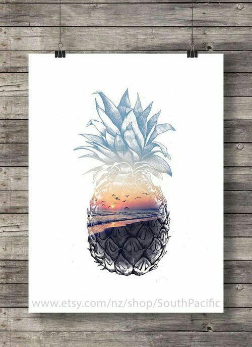 art and pineapple Bild