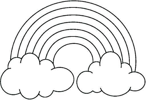 dibujo de arcoiris imprimible dibujos de arcoiris para